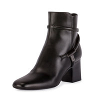TOM FORD T Bar Leather 65mm Bootie