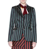 Tomas Maier Striped Three Button Jacket
