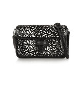 Alaa Double Pocket Margarite Small Python And Leather Shoulder Bag