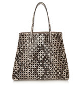 Alaa Petal Laser Cut Python And Leather Tote
