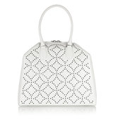 Alaa Trapeze Arabesque Embellished Leather Tote