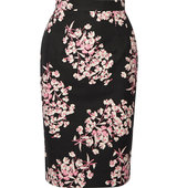 Axel Floral Print Stretch Cotton Pencil Skirt Jonathan Saunders