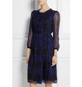 Burberry Brit Printed Silk Chiffon Dress