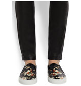 Givenchy Slip On Sneakers In Magnolia Print Leather