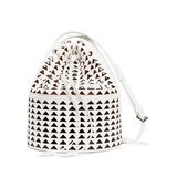 Alaa Laser Cut Glossed Leather Bucket Bag Intl Shipping