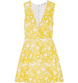 Alice Olivia Pacey Guipure Lace Mini Dress Marigold Intl Shipping