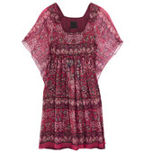 Anna Sui Lam Striped Printed Silk Blend Mini Dress Pink Intl Shipping