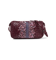 Bottega Veneta Intrecciato Ayers Shoulder Bag Purple Intl Shipping