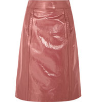 Bottega Veneta Patent Leather Pencil Skirt Antique Rose Intl Shipping