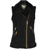 Burberry Brentdale Shearling Gilet Black Intl Shipping