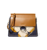 Chlo Faye Medium Studded Patchwork Leather Intl Shipping