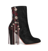 Chlo Liv Beaded Suede Ankle Boots Black Intl Shipping