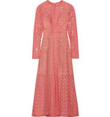 Elie Saab Cotton Blend Lace Dress Antique Rose Intl Shipping