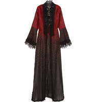 Elie Saab Crocheted Lace Trimmed Embroidered Cotton Blend Jacket Black Intl Shipping