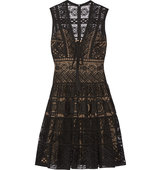Elie Saab Guipure Lace Dress Black Intl Shipping