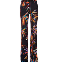 Emilio Pucci Printed Stretch Jersey Wide Leg Pants Black Intl Shipping