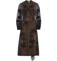 Erdem Brianna Embroidered Silk Blend Organza And Swiss Dot Tulle Dress Black Intl Shipping