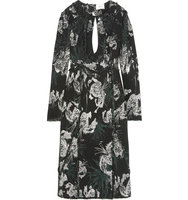 Erdem Chrissy Frayed Cutout Metallic Jacquard Dress Black Intl Shipping