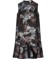 Erdem Nena Fil Coup Organza Dress Black Intl Shipping