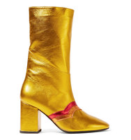 Mr By Man Repeller Im Here To Party Metallic Leather Boots Gold Intl Shipping