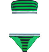 Stella Mccartney Calypso Striped Bandeau Bikini Bright Green Intl Shipping