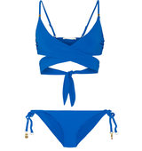 Stella Mccartney Wrap Bikini Royal Blue Intl Shipping