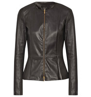 The Row Anasta Stretch Leather Jacket Black Intl Shipping