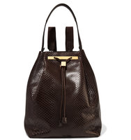 The Row Python Backpack Dark Brown Intl Shipping