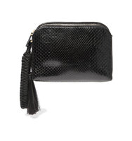 The Row Wristlet Tasseled Python Clutch Black Intl Shipping