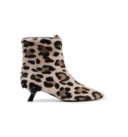 Tom Ford Leopard Print Calf Hair Ankle Boots Leopard Print Intl Shipping