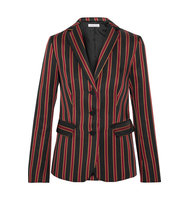Tomas Maier Striped Satin Twill Blazer Black Intl Shipping