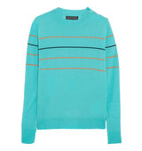Jaspar Striped Merino Wool Sweater Jonathan Saunders