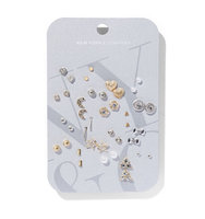 New York And Company 20 Piece Post Earring Set In Stripes multi