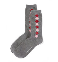 New York And Company Argyle Crew Sock In Medium Heather Grey
