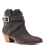 Nine West Lairah Pointy Toe Booties Grey