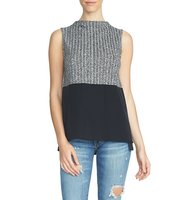 1state Colorblock Knit Sleeveless Top