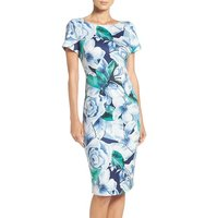 Adrianna Papell Floral Print Sheath Dress