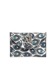 Alexander Mcqueen Eye Print Calfskin Leather Card Case