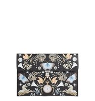 Alexander Mcqueen Nocturnal Skull Calfskin Leather Clutch