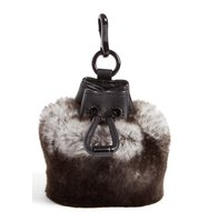 Alexander Wang Mini Roxy Dstring Genuine Rabbit Fur Bag Charm