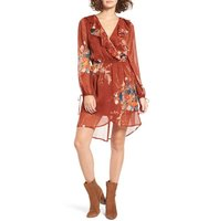 Band Of Gypsies Floral Print Chiffon Dress