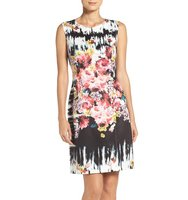 Betsey Johnson Floral Scuba Sheath Dress