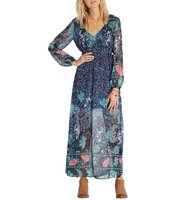 Billabong Dreaming Away Floral Print Maxi Dress