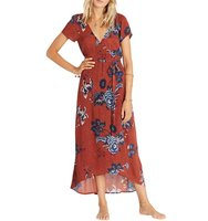 Billabong Wrap Me Up Floral Print Maxi Dress