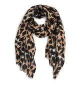 Burberry Animal Print Mulberry Silk Wool Scarf