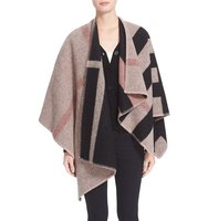 Burberry Mega Check Wool Cashmere Cape