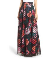 Eliza J Swiss Dot Print Ball Skirt