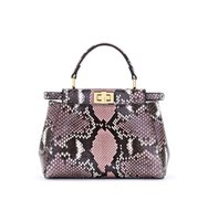 Fendi Mini Peekaboo Genuine Python Crossbody Bag