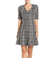 Gabby Skye Knit Fit Flare Dress