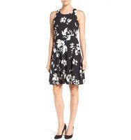 Ivanka Trump Floral Print Fit Flare Dress